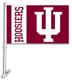 NCAA Indiana Hoosiers Car Flag with Wall Bracket Flag