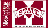 NCAA Mississippi State Bulldogs Flag with Grommets Flag