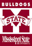 NCAA Mississippi State Bulldogs 2-Sided House Banner Bandera