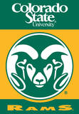 NCAA Colorado State Rams* 2-Sided House Banner Wall Scroll