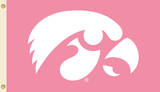NCAA Iowa Hawkeyes Pink Design Flag with Grommets Novelty