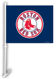 MLB Boston Red Sox Car Flag with Wall Bracket Novelty