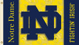 NCAA Notre Dame 2-Sided Flag with Grommets Flag