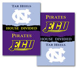 NCAA E. Carolina - N. Carolina 2-Sided House Divided Rivalry Banner Flag