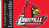 NCAA Louisville Cardinals Flag with Grommets Novelty