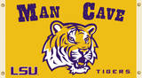 NCAA Louisiana State Tigers Man Cave Flag with Grommets Flag