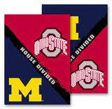 NCAA Michigan - Ohio St. 2-Sided House Divided Rivalry Garden Flag Novelty