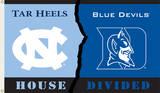 NCAA North Carolina - Duke Rivarly House Divided Flag with Grommets Flag