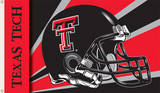 NCAA Texas Tech Red Raiders Helmet Flag with Grommets Flag