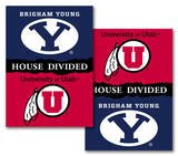 NCAA BYU - Utah 2-Sided House Divided Rivalry Banner Flag