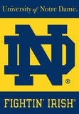 NCAA Notre Dame 2-Sided House Banner Flag