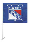 NHL New York Rangers Car Flag with Wall Bracket Novelty