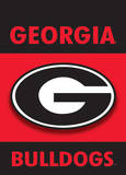 NCAA Georgia Bulldogs 2-Sided Garden Flag Flag