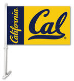 NCAA Cal Berkeley Golden Bears Car Flag with Wall Bracket Novelty