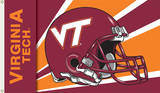 NCAA Virginia Tech Hokies Helmet Flag with Grommets Flag