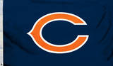 NFL Chicago Bears Flag with Grommets Bandera
