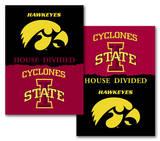 NCAA Iowa - Iowa State 2-Sided House Divided Rivalry Banner Bandera