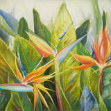 Paradiesvogel I Kunstdruck von Patricia Pinto
