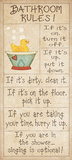 Family Bathroom Rules Kunst van Jo Moulton