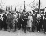 Historical Martin Luther King, Jr. & his wife Coretta Scott King lead a black voting rights march i Photo