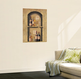 Wine Bottle Niche Wall Accent Mural Art Print Poster Wall Mural