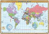Desk Mat World Map Novelty