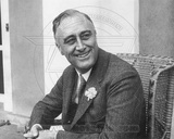 Statesman Franklin Delano Roosevelt learns he is leading the contest for Governor of New York State Photo