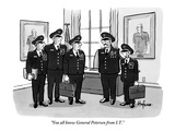 """""""You all know General Petersen from I.T."""" - New Yorker Cartoon Regular Giclee Print by Kaamran Hafeez"""