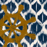 Nautical Ikat II Print by Patricia Quintero-Pinto