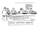 """Dad's Support Group"" - New Yorker Cartoon Premium Giclee Print by Mike Twohy"