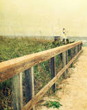 Beach Rails I Art by Lisa Hill Saghini
