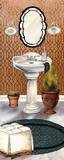 Bath in Teal II Posters af Elizabeth Medley