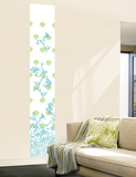 Jacobean Damask Panel I (Blue and Green) Wall Decal Wallpaper Mural