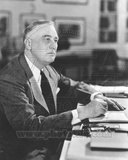 President Franklin Delano Roosevelt sits at his desk 1941 Photo