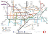 London Underground Map Huge Poster Prints