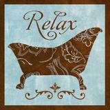 Relax Print by Rebecca Lyon