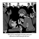 """""""Once you've stood up for one actor, you're not allowed to sit back down f…"""" - New Yorker Cartoon Regular Giclee Print by William Haefeli"""