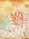 Map Wallflower II Art by Elizabeth Medley