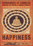 Thousands of Candles Buddha Huge Motivational Poster Print