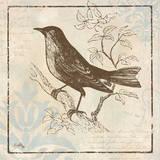 Bird Woodcut II Affiches par Elizabeth Medley