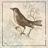 Bird Woodcut II Prints by Elizabeth Medley