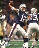 Tom Brady - Action (SB XXXVI 9) Photo