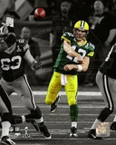 Aaron Rodgers Spotlight Action from Super Bowl XLV Photo