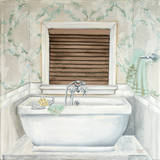 Subway Bath Tile II Print by Tiffany Hakimipour