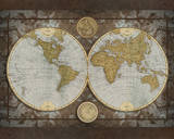 World Map Prints by Elizabeth Medley