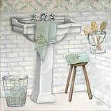 Subway Bath Tile I Plakat af Tiffany Hakimipour