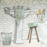 Subway Bath Tile I Print by Tiffany Hakimipour