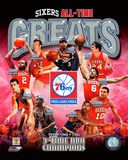 Philadelphia 76ers All Time Greats Composite Fotografía