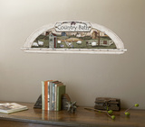Arched Display Nook Country Bath Trompe L'Oiel Wall Accent Mural Art Print Poster Wall Mural