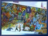 Psyche Pop Mural Konst av Alain Bertrand